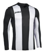 JOMA Pisa V Jersey - Black / White (Long Sleeve)